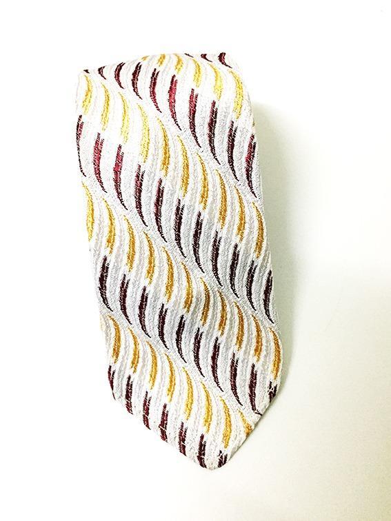 德國Vintage 紳士條紋領帶 -多色立體織紋-070(古著)