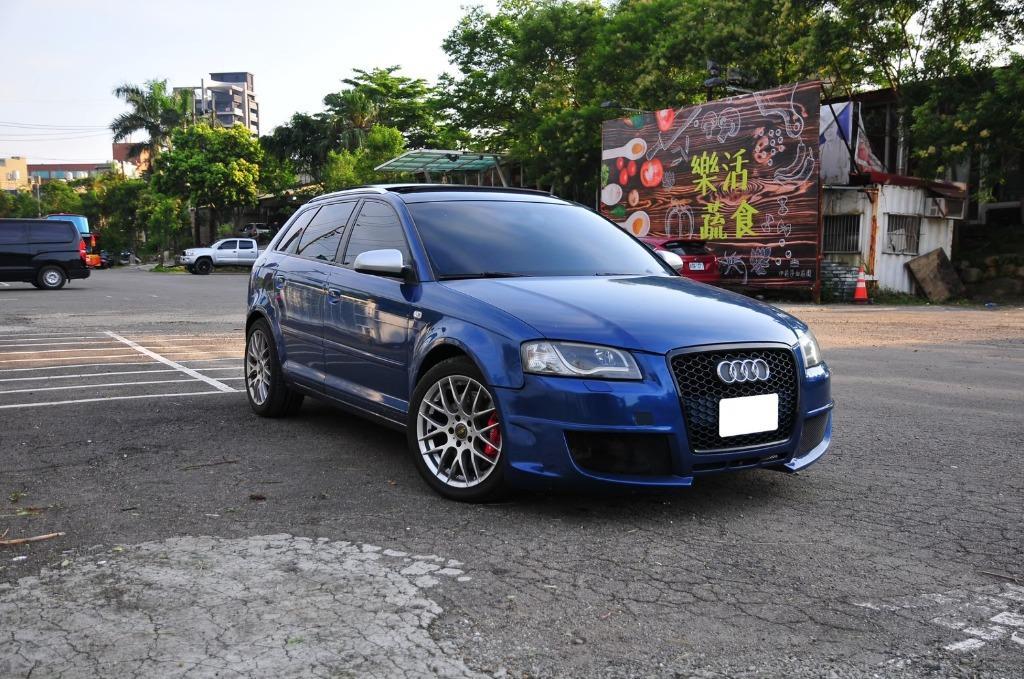 2007 Audi A3 藍 AP卡鉗 導光頭燈 改裝鋁圈