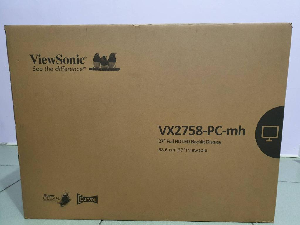 全新27吋優派VX2758-PC-MH抗藍光144Hz曲面電競螢幕