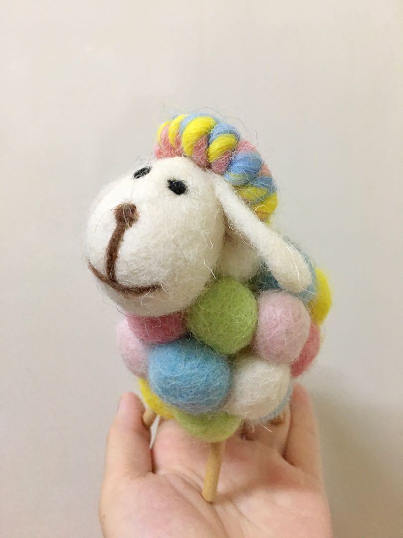 羊毛氈手作彩色綿羊