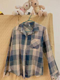 綠格子襯衫#購買三件可折30