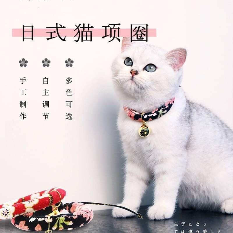 日式鈴鐺貓咪驅蟲防跳蚤項圈