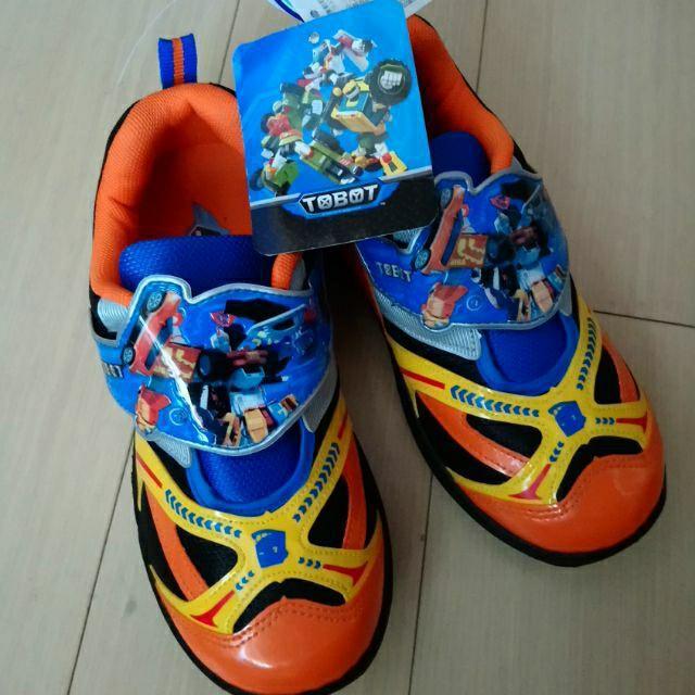 零碼出清 台灣製 機器戰士 抗菌防臭 帥氣電燈鞋 運動鞋 發亮鞋 男孩的最愛 21號