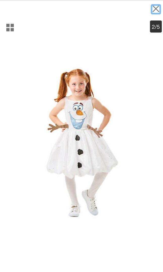 冰雪奇緣 Olaf 雪寶 萬聖節洋裝