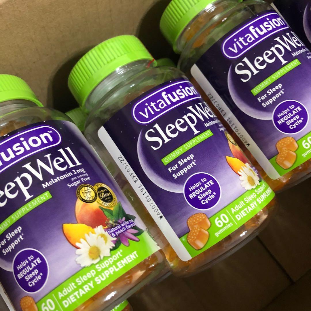 現貨在台 sleepwell vitafusion 睡眠軟糖 褪黑激素 退黑激素