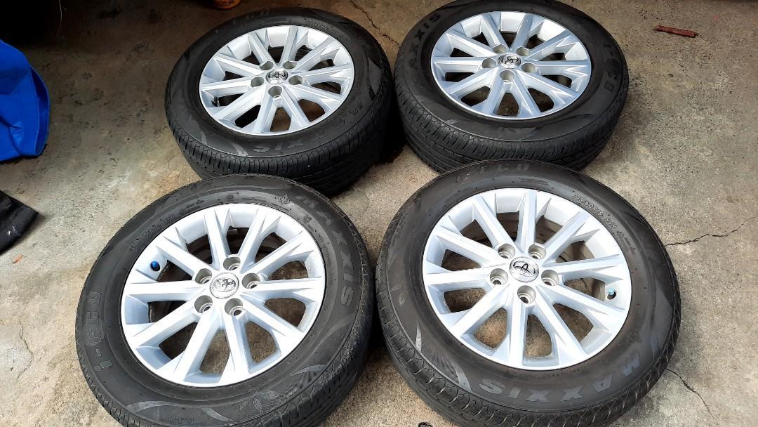 豐田汽車 Toyota Camry 冠美麗 16吋原廠鋁圈加輪胎 215 60 16 五孔114 實體店面安裝