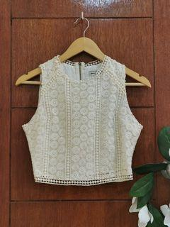 Abercrombie & Fitch Guipure Crop Top