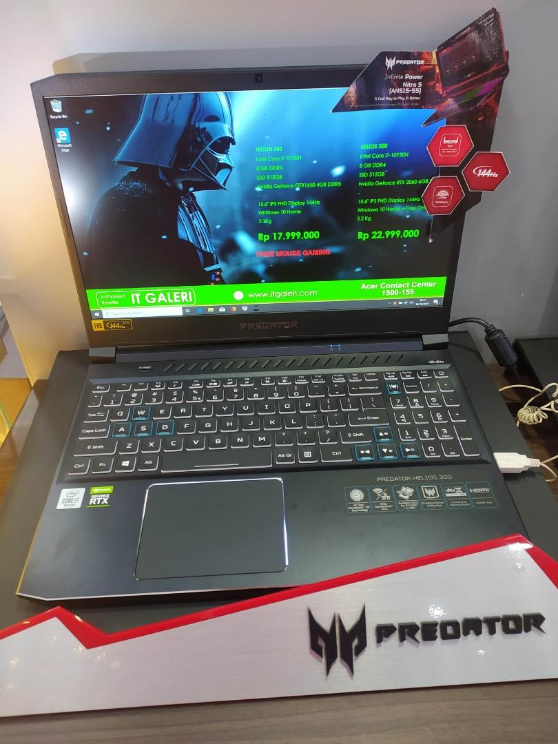 Acer Triton i7 9750H GTX1650 4GB 15.6 Inch Free Mouse Gaming