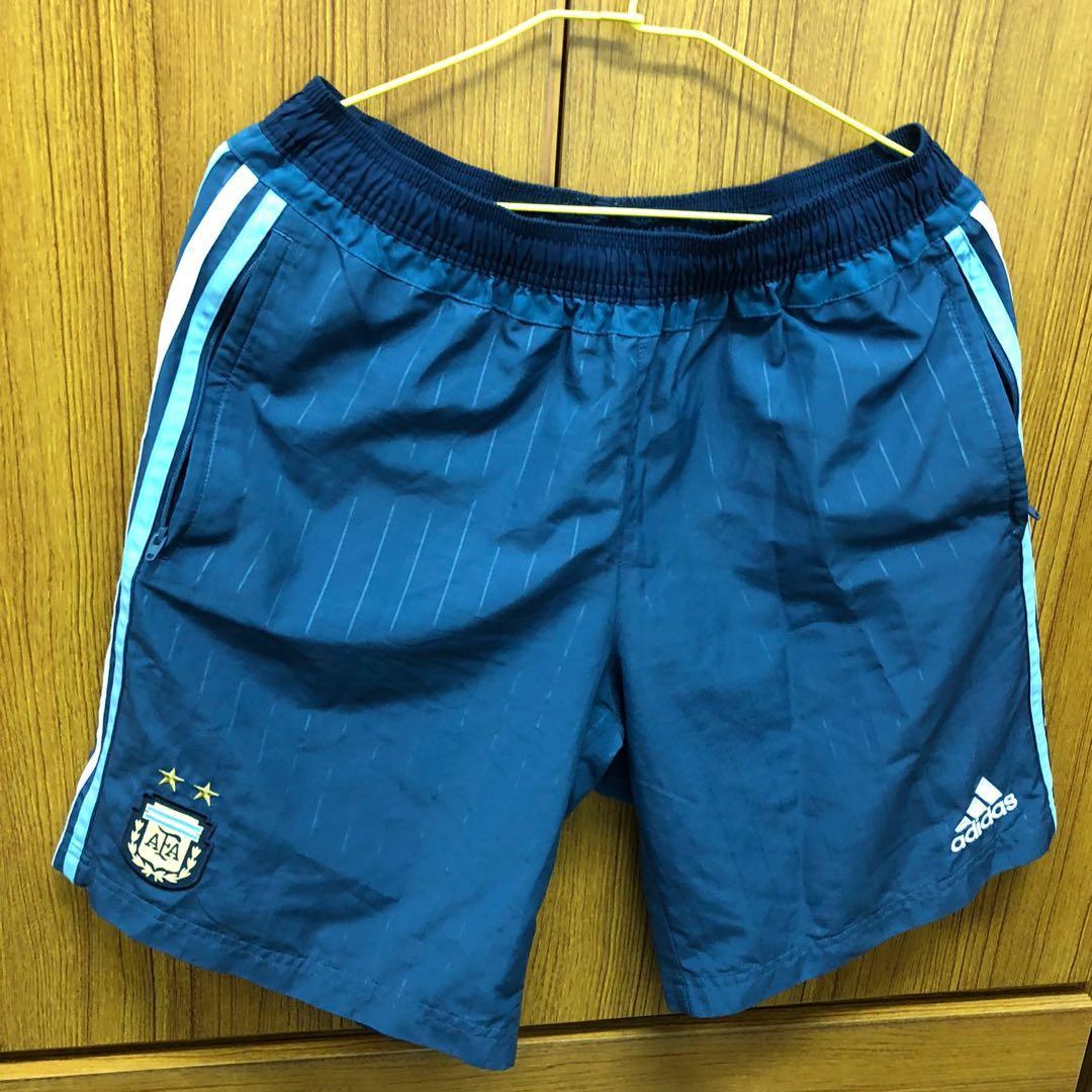 Adidas Fifa World Cup Messi 世足世界杯愛迪達阿根廷線條條紋運動短褲梅西足球褲 m