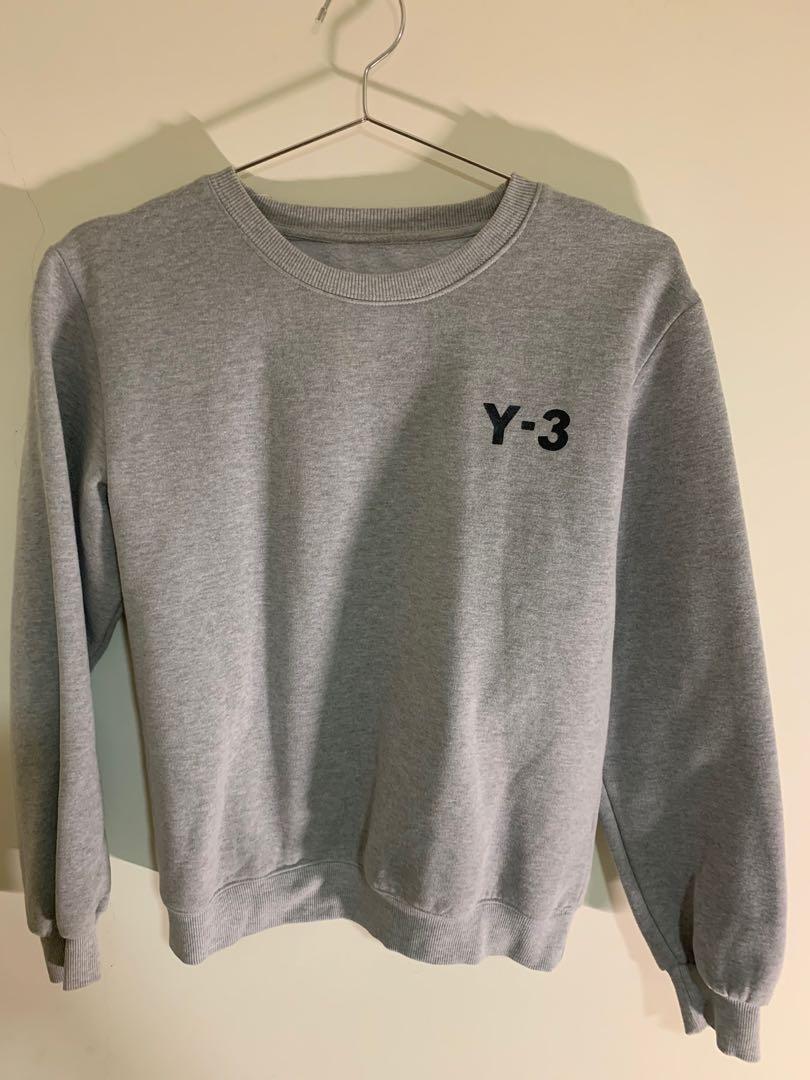 非正品 Adidas Y3刷毛 大學T 長袖 非正品 M
