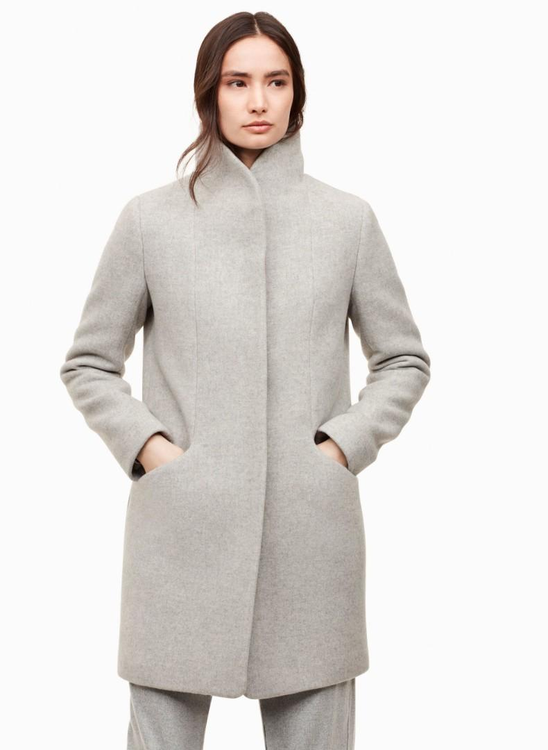 Aritzia Wilfred The Cocoon wool coat Grey sz xxs