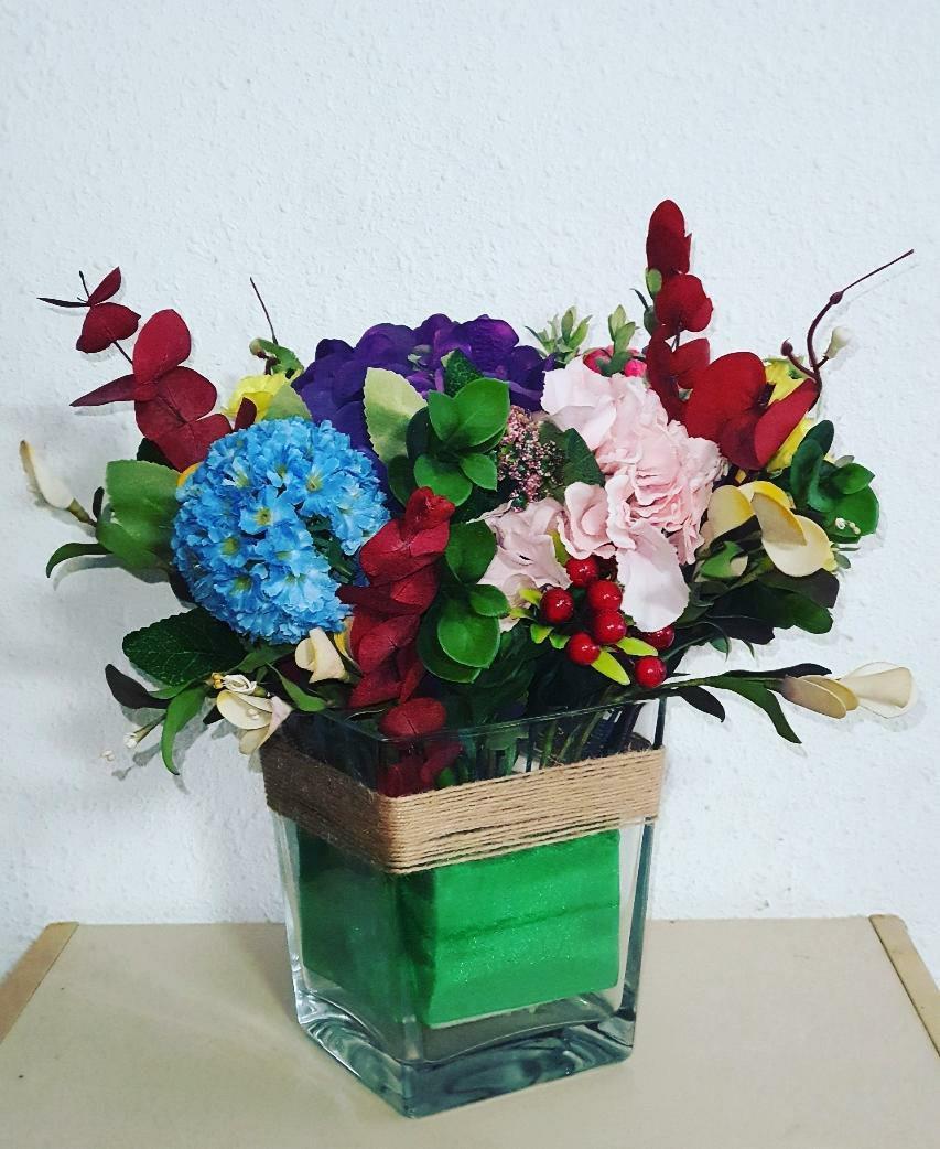 Artificial Flower Arrangement Gardening Flowers Bouquets On Carousell