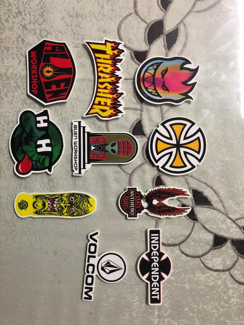 assorted waterproof skateboard brand sticker