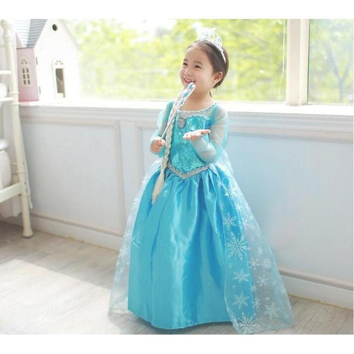 BBFT-           babyfit SUPERELSA dress kostum anak perempuan import