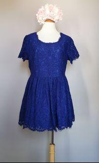 Blue Lace Long Top
