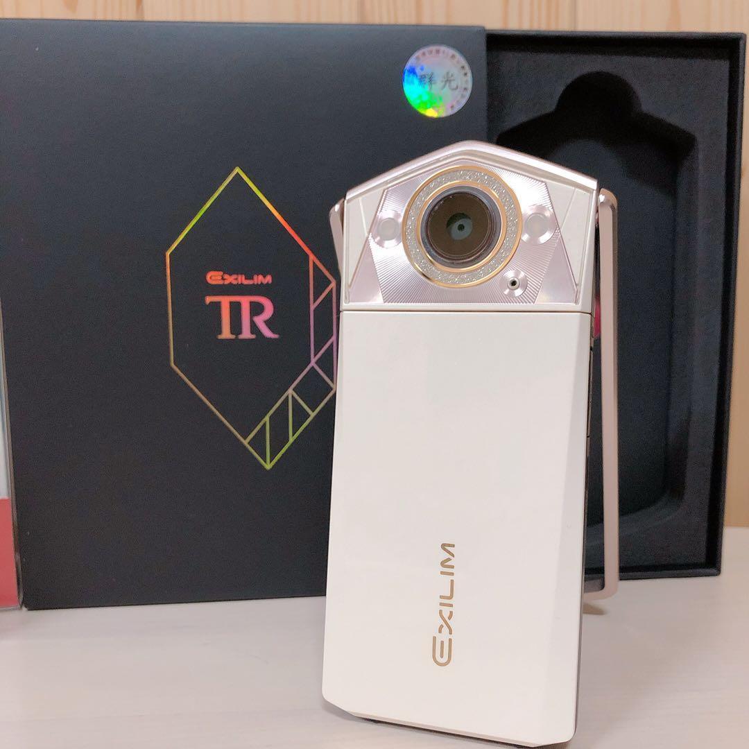 《二手》casio卡西歐TR80 珍珠白 全配 公司貨 自拍神器9.5成新 面交可議