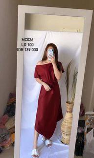 Dress maroon premium