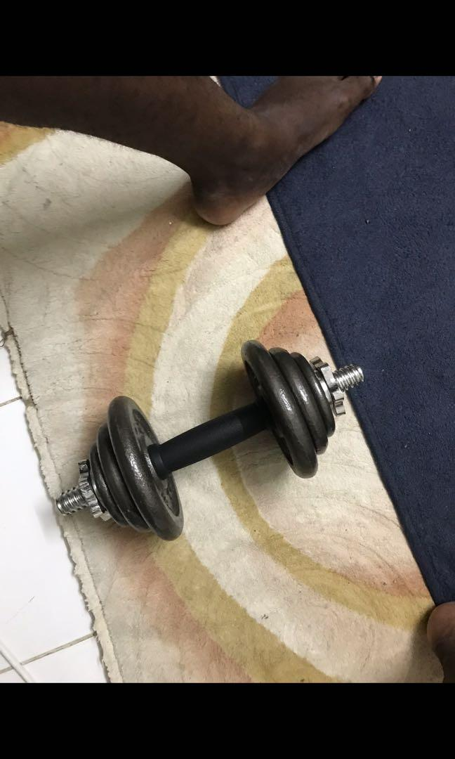 DUMBBELLS WITH CONNECTORS