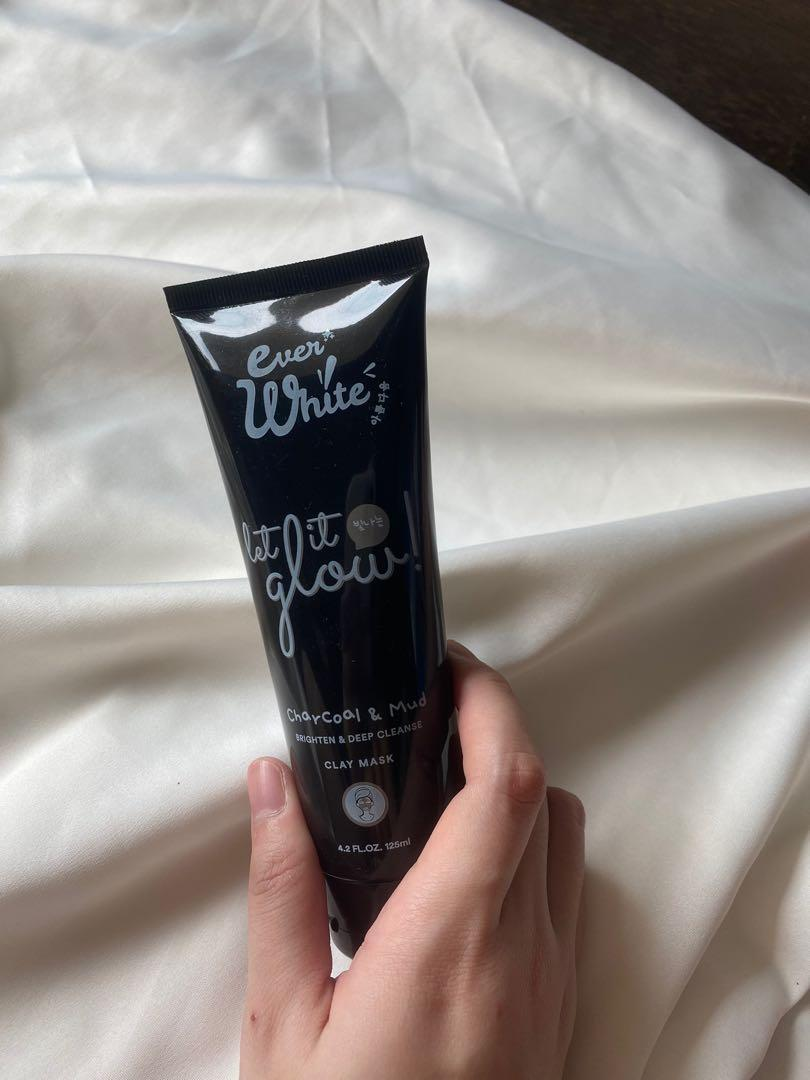 Everwhite let it glow charcoal & mud mask