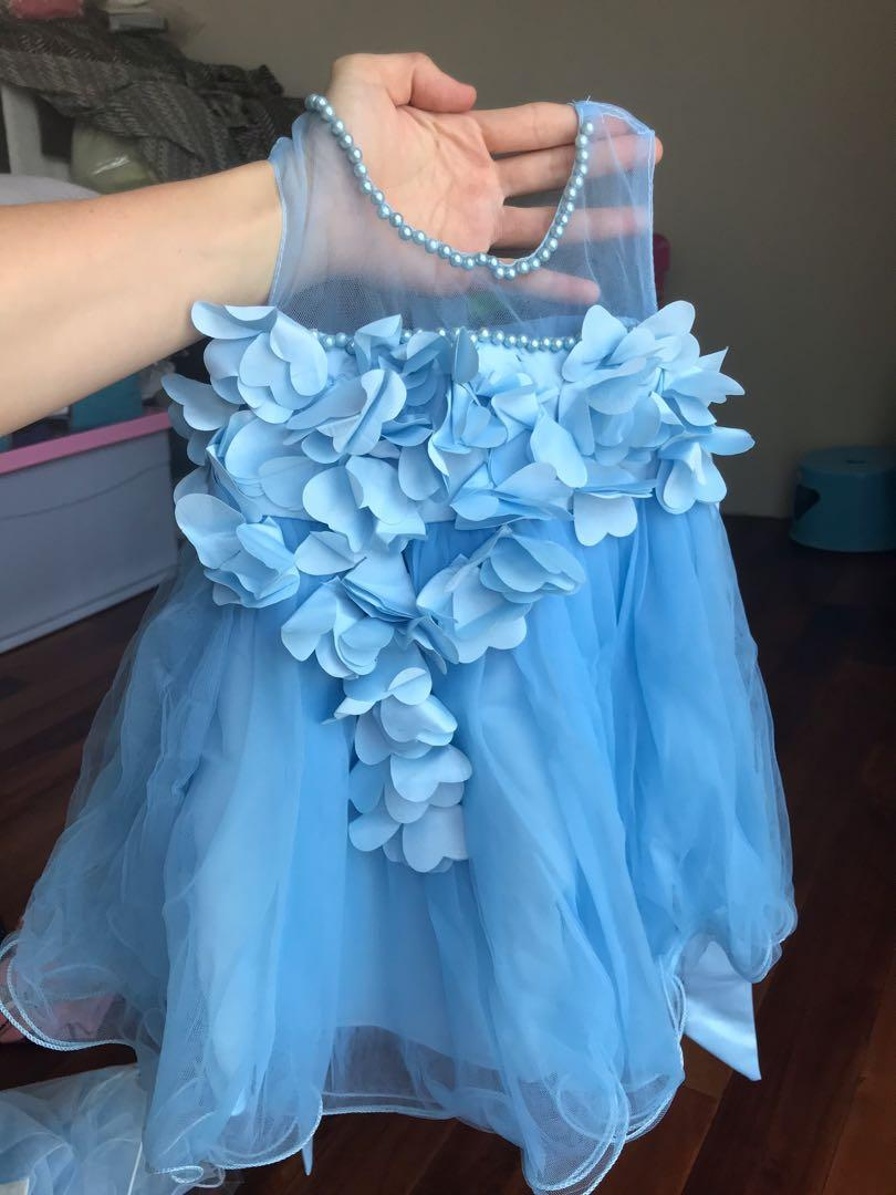 Floral Blue party dress