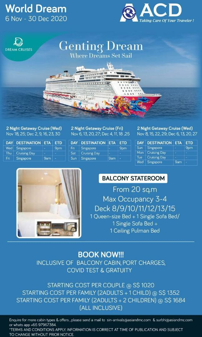 Genting Dream Cruise Entertainment Attractions On Carousell