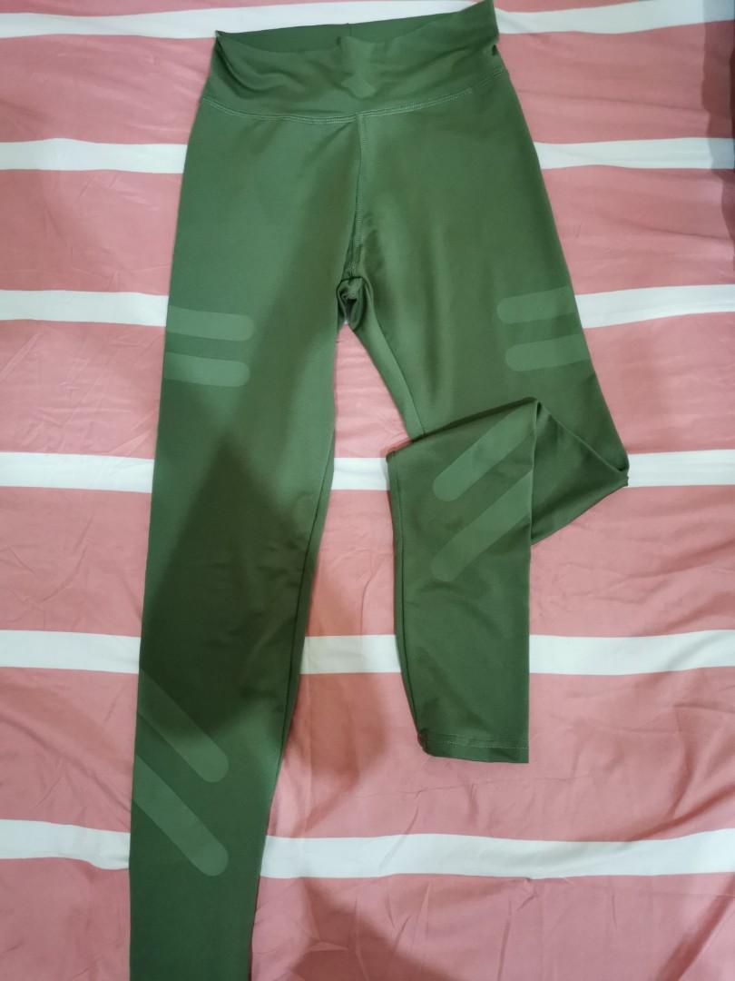 Green sport pants