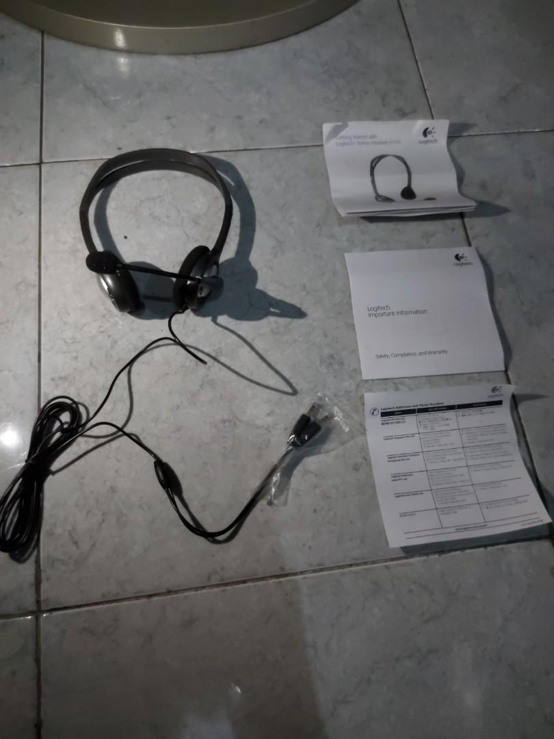 Headset Logitech H110. 100% original.