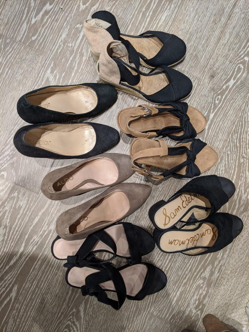 Heels sandals all 6 pairs for $30, size 6