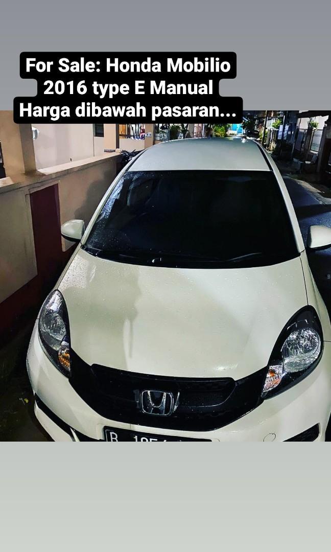 Honda Mobilio White 2016 Manual
