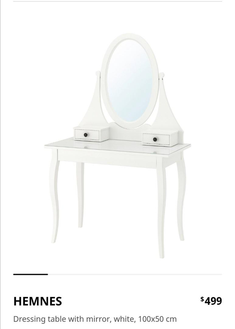Ikea Hemnes Dressing Table With Mirror Furniture Home Decor Others On Carousell