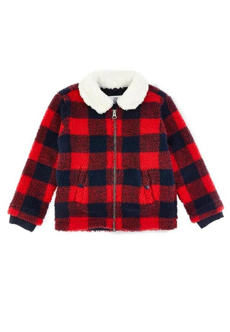 jaket anak laki MARKS & SPENCER Red Zip Jacket 16102020002