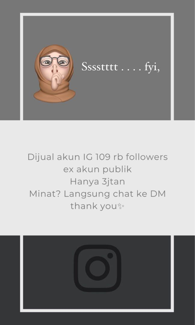 Jual Akun Instagram Real Followers