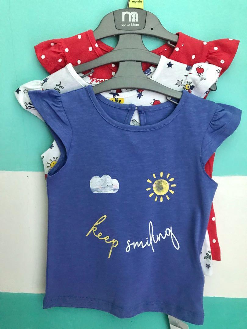 Kaos Mothercare 3 pcs 12-18 month