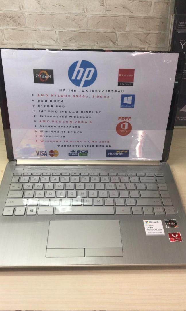 Laptop HP14S AMD Ryzen 5 RAM 8GB SSD 512GB Bisa Cicilan Tanpa Kartu Kredit Proses Cepat