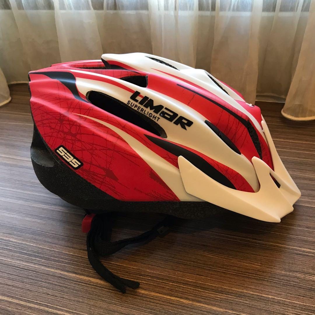 Limar Superlight Red Cycling Helmet Size L 250g