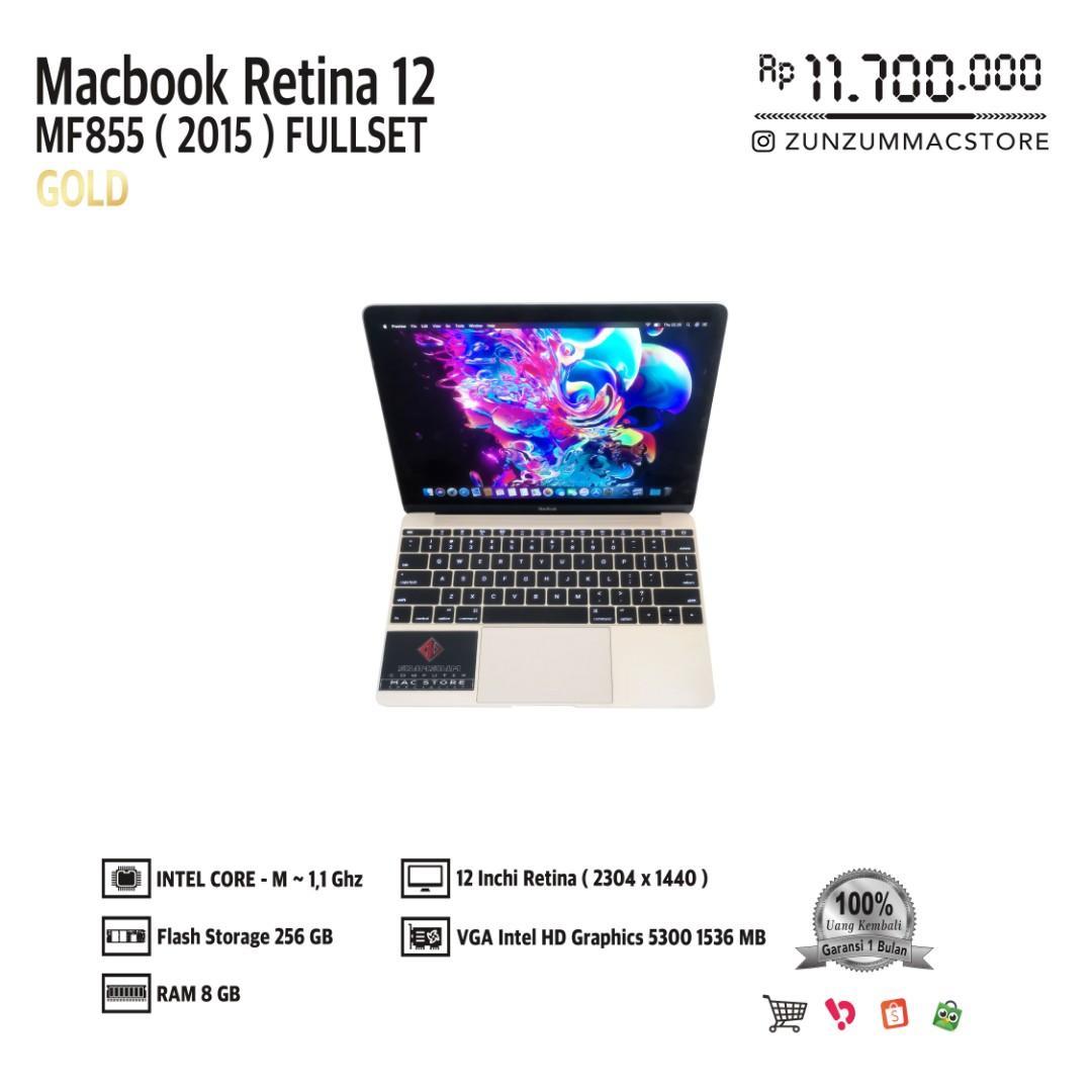 Macbook Pro Retina 12 MF855 Early 2015 Core M Ram 8 GB SSD 256 GB Fullset