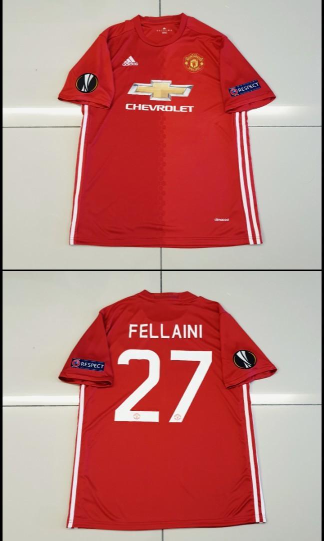Manchester United 16-17 Home Jersey UEFA Europa League #27 FELLAINI