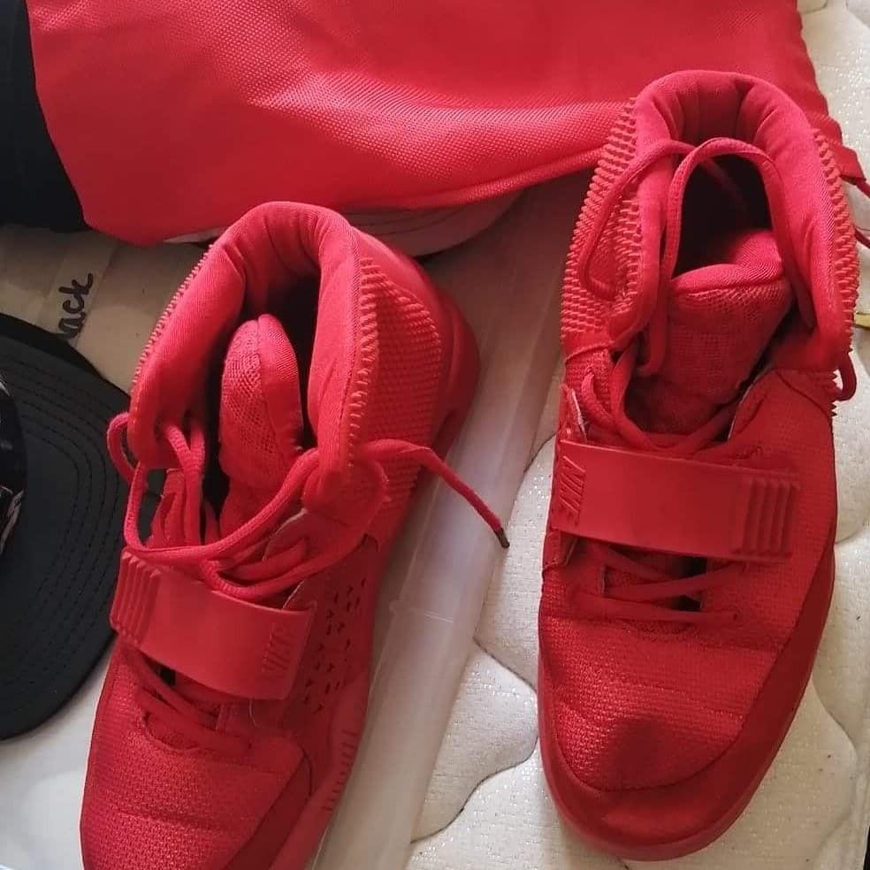 October red Kanye West yeezys 2
