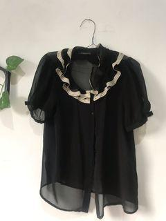 #OKTOBEROVO Black Blouse