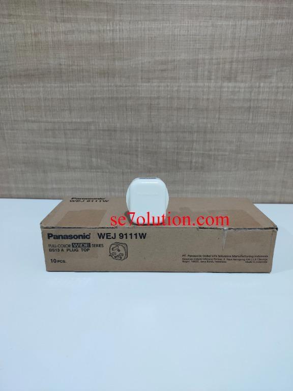 Panasonic Steker AC 3 Kaki BS 13A Plug Top (WEJ-9111W)