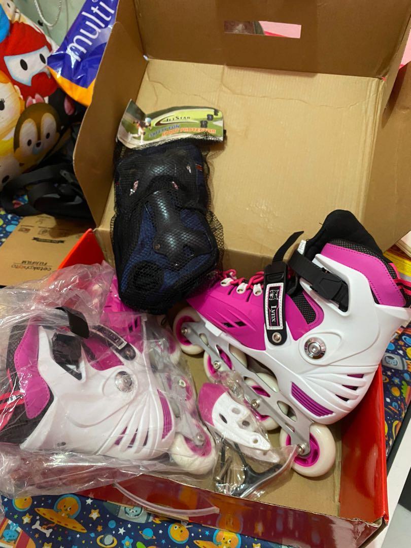 Sepatu Roda LYNX BM 135 (pink white)