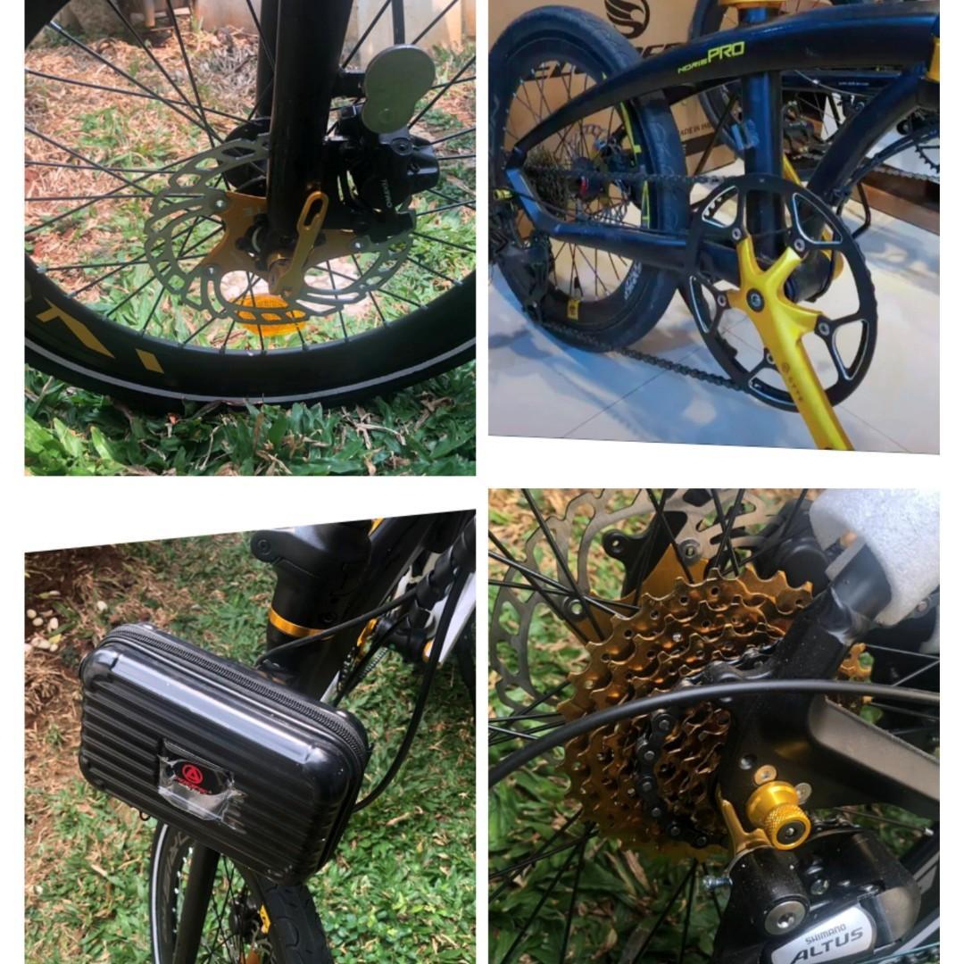 Sepeda lipat pacific norris pro black gold bekas ,mulus .