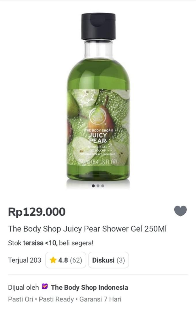 The Body Shop Shower Gel juicy pear disc 50%