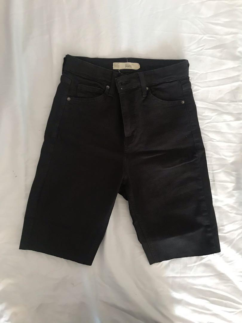 Topshop above the knee shorts