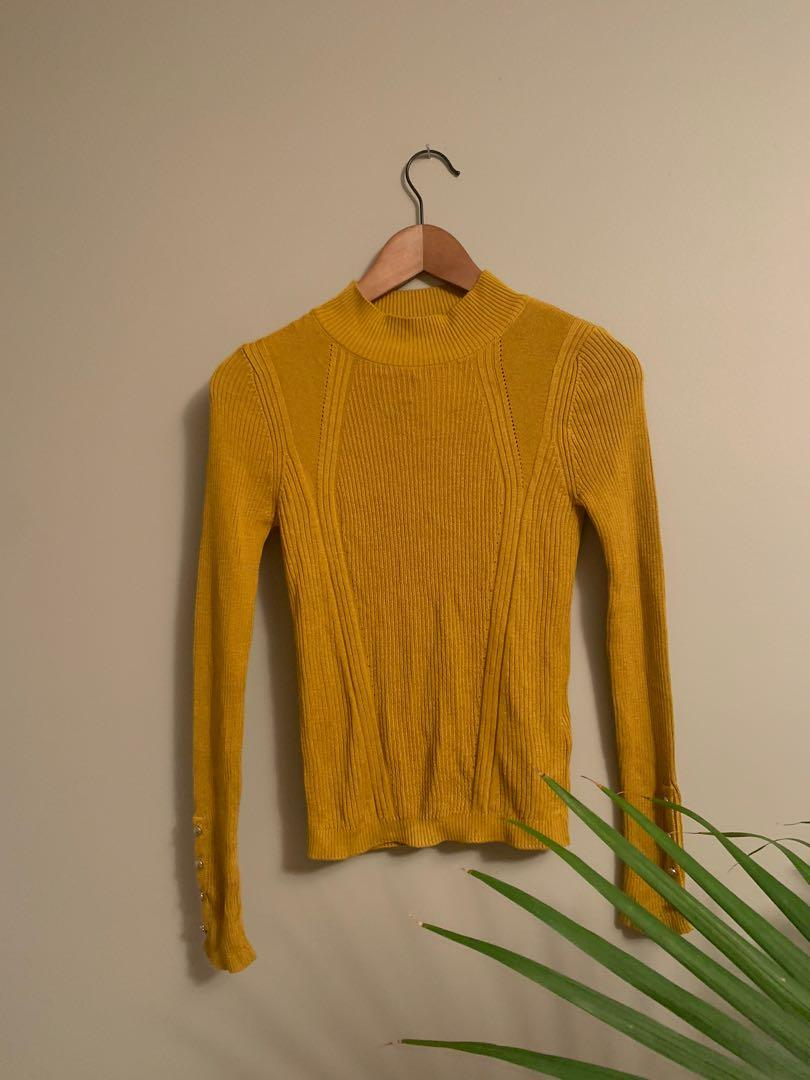 TOPSHOP yellow turtle neck never worn