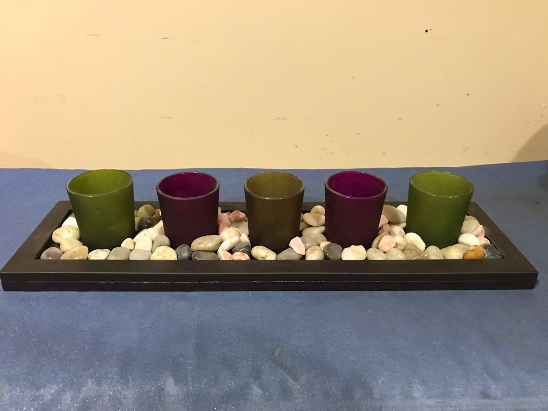 Tray with Candle Holders