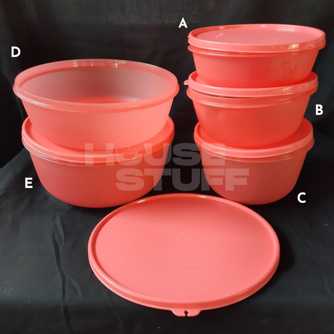 Tupperware Set Guava Bowl Collection + Stor N' Pour   Set Guava Bowl Collection