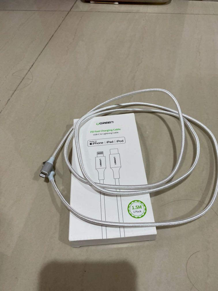 UGREEN Braided USB-C to Lightning Cable certified by Apple MFi.