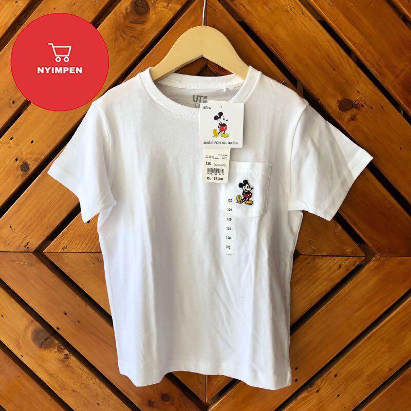 UNIQLO Kaos Anak Mickey (WHITE)