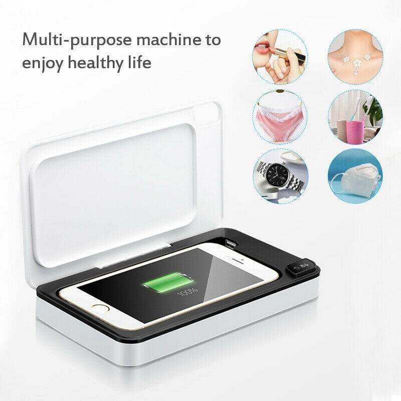 多功能手機無線充電器口罩殺菌紫外線消毒器UV美甲消毒盒